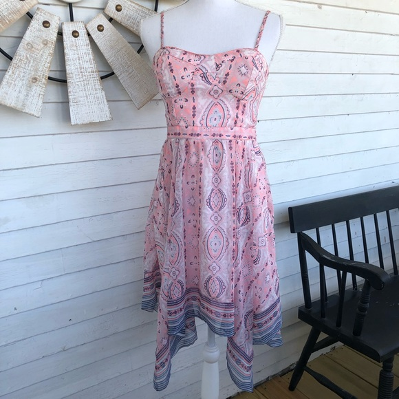 American Eagle Outfitters Dresses & Skirts - AEO | Pink Paisley Kerchief Dress